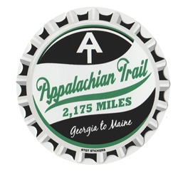 Bottle Cap Appalachian Trail Sticker