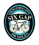 Six Gap Bicyclist Ride Sticker