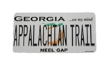Georgia License Plate Sticker Neel Gap