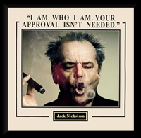 "Jack Nicholson 16x20 ""I Am Who I Am"" Collage Framed"