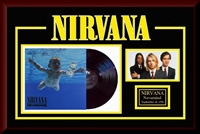 Nirvana Nevermind Vinyl Album Collage Frm.