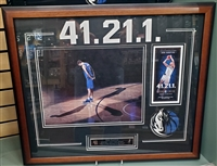 Dirk Nowitzki 11x14 w/Ticket 41.21.1 Collage Frm.