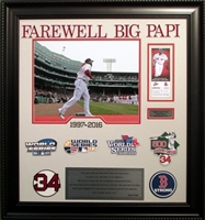 "David Ortiz ""Farewell Big Papi"" 11x14 w/World Series and Red Sox Logos"