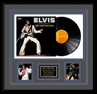 Elvis Presley Madison Square Garden Vinyl Album Collage Frm.