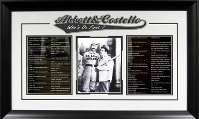 "Abbott & Costello ""Who's On First?"""