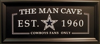 Dallas Cowboys The Man Cave Sign