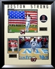 "David Ortiz ""Boston Strong"" 2-8x10s w/Red Sox Logos collage Framed"