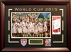2015 U.S. Women's Soccer World Cup 12x18 photo w/replica game ticket