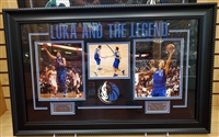 Luka & the Legend Doncic & Nowitzki Collage Framed