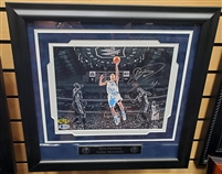 Dirk Nowitzki Signed & Framed Mavericks 8x10