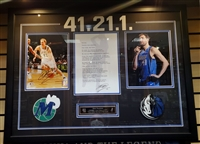 Dirk Nowitzki Signed 41.21.1 Collage Framed