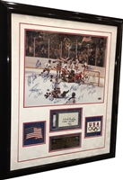 Miracle on Ice Team Signed 16x20 w/Herb Brooks Framed