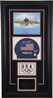 Michael Phelps Signed and Framed Swim Cap