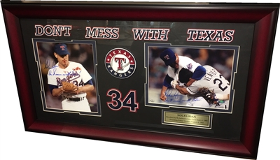 Nolan Ryan Double Signed 8x10 Framed