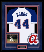 Hank Aaron Signed & Framed Braves Jersey