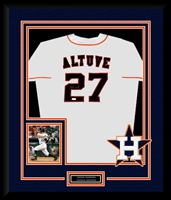 Jose Altuve Signed and Framed Astros Jersey