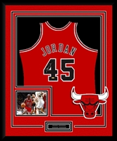Michael Jordan #45 Signed & Framed Red Bulls Jersey, UDA