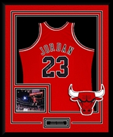Michael Jordan #23 Signed & Framed Red Bulls Jersey, UDA