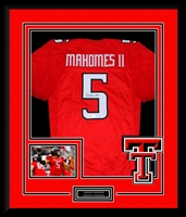 Patrick Mahomes Signed and Framed Texas Tech Jersey