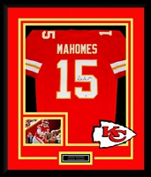 Patrick Mahomes Signed and Framed Chiefs Jersey