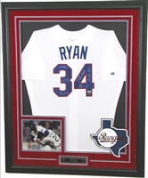 Nolan Ryan Signed & Framed Jersey w/5 Inscriptions
