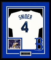 Duke Snider Signed and Framed Brooklyn Dodgers Jersey