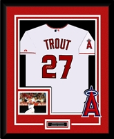 Mike Trout Signed & Framed White Angels Jersey