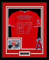 Mike Trout Signed & Framed Red Angels Jersey