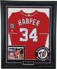 Bryce Harper Signed and Framed Jersey