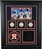 Houston Astros Triplets 3-Ball Shadowbox