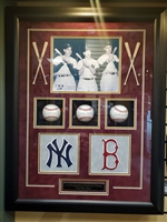 "Joe DiMaggio, Ted Williams, Mickey Mantle ""3 Kings"" Shadow Box"