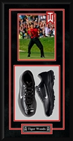 Tiger Woods Signed Nike Golf Spikes Custom Shadow Box