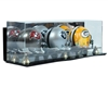 Deluxe Triple Mini Football Helmet case wall mountable