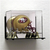 Deluxe Mini Football Helmet case wall mountable