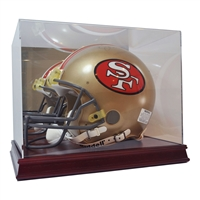 Deluxe Full Size Football Helmet Case Wood Base