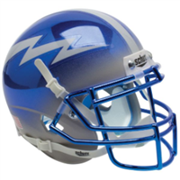 Air Force Schutt Mini Helmet - Blue Chrome
