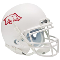 Arkansas Schutt Mini Helmet - White