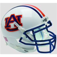 Auburn Schutt Mini Helmet - Chrome Logo