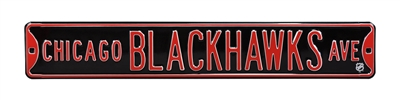 Chicago Blackhawks Street Sign