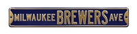 Milwaukee Brewers Street Sign