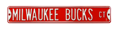 Milwaukee Bucks Street Sign