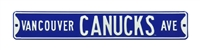 Vancouver Canucks Street Sign