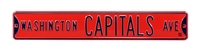 Washington Capitals Street Sign