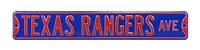 Texas Rangers Street Sign