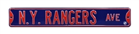 New York Rangers Street Sign