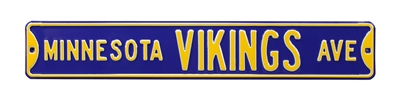 Minnesota Vikings Street Sign