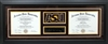 Custom Dual Diploma Framing