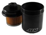 AEM High Volume Fuel Filter for the 1996-2000 Honda Civic CX, DX, LX, and EX
