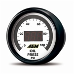 AEM Digital Oil/Fuel Pressure Display Gauge (0-150psi)