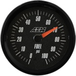 AEM Analog Fuel Pressure Display Gauge (0-100psi) - Black Face